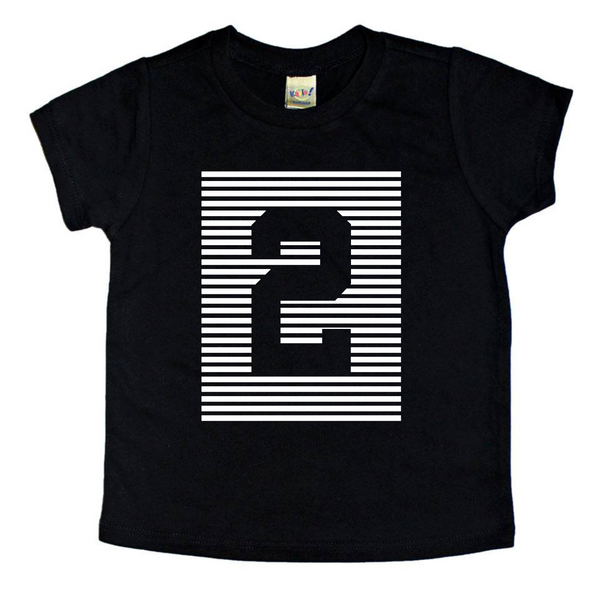 All aged - Striped birthday tee