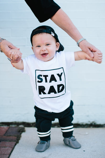 Stay rad - trendy kids tee