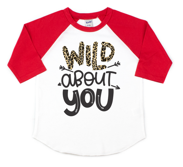 Wild about you - leopard print valentine's day shirt