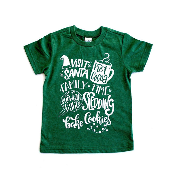 Winter Bucket List Green Tee