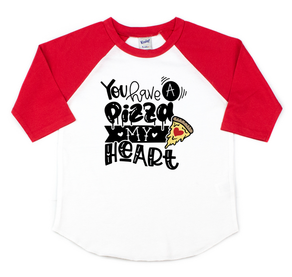 You have a pizza my heart - Kids pizza shirt