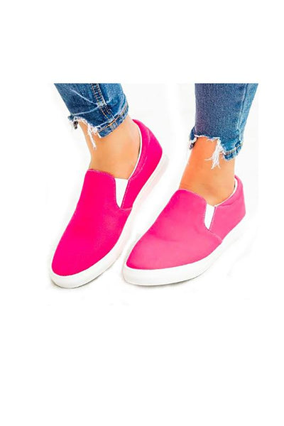 Don't Break My Heart Fuchsia Sneakers Shoes One Color Available