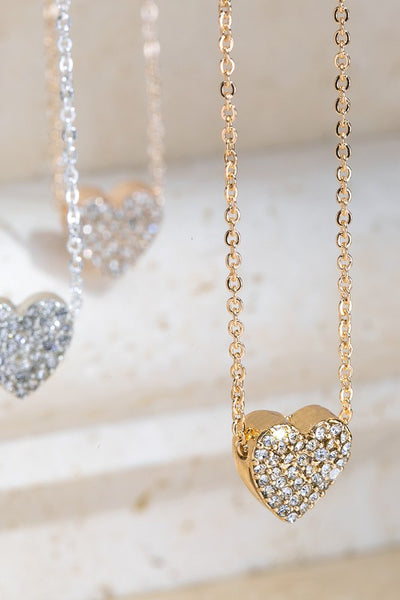 In My Heart Rhinestone Heart Necklace-Gold-[option4]-[option5]-Cute-Trendy-Shop-Womens-Boutique-Clothing-Store