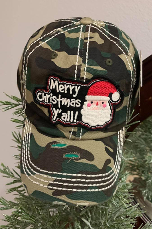 Merry Christmas Y'all Ballcap-Camo-[option4]-[option5]-Cute-Trendy-Shop-Womens-Boutique-Clothing-Store
