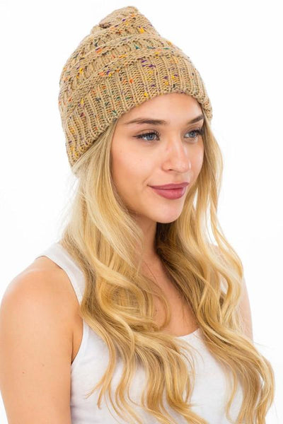 Keep It Cute Confetti Beanies-Khaki-[option4]-[option5]-Cute-Trendy-Shop-Womens-Boutique-Clothing-Store