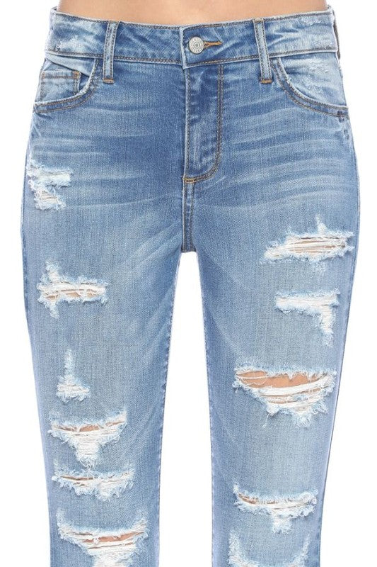 I See the Rain Distressed Skinny Jeans-[option4]-[option5]-Cute-Trendy-Shop-Womens-Boutique-Clothing-Store