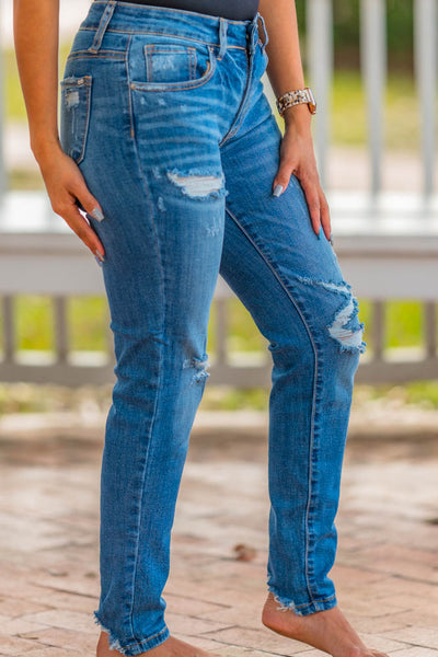 Football Fever Distressed Jeans-[option4]-[option5]-Cute-Trendy-Shop-Womens-Boutique-Clothing-Store