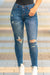 No Troubles Distressed Denim Jeans-[option4]-[option5]-Cute-Trendy-Shop-Womens-Boutique-Clothing-Store