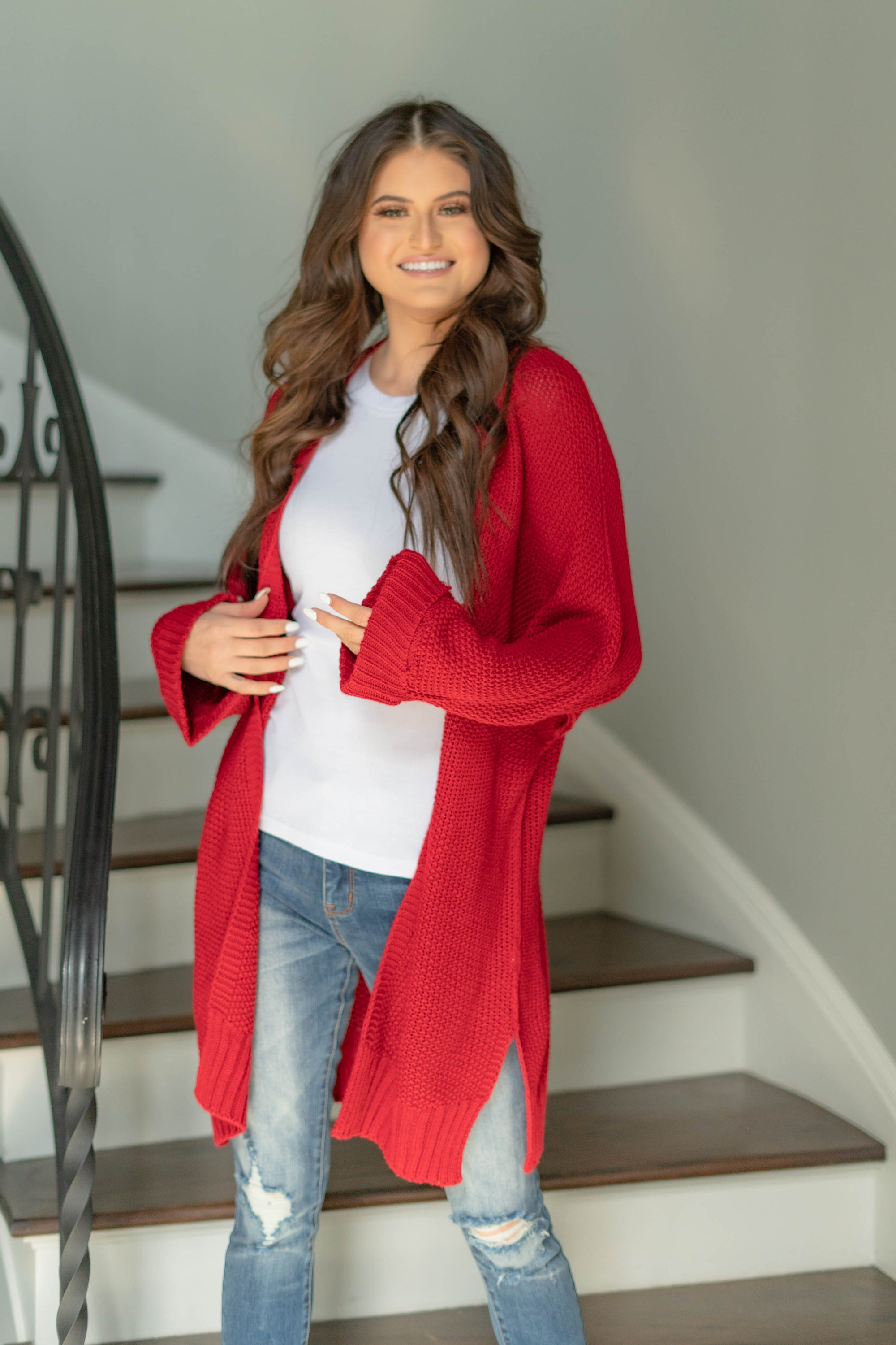Isn't It Great Cardigan-Burgundy-SMALL-[option4]-[option5]-Cute-Trendy-Shop-Womens-Boutique-Clothing-Store