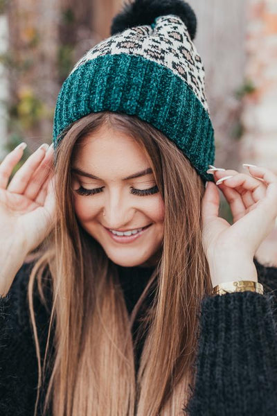 Like a Rockstar Leopard Beanie-Green-[option4]-[option5]-Cute-Trendy-Shop-Womens-Boutique-Clothing-Store