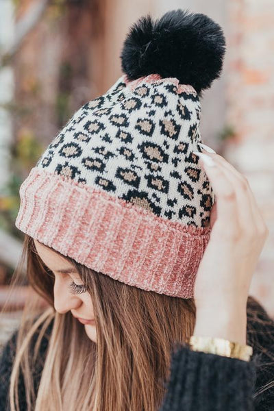 Like a Rockstar Leopard Beanie-Rose-[option4]-[option5]-Cute-Trendy-Shop-Womens-Boutique-Clothing-Store