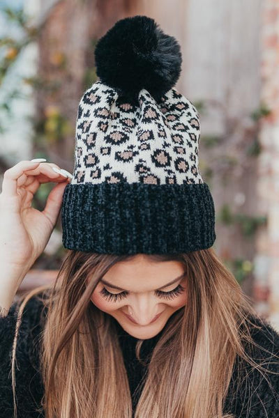 Like a Rockstar Leopard Beanie-Black-[option4]-[option5]-Cute-Trendy-Shop-Womens-Boutique-Clothing-Store