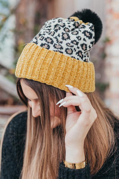Like a Rockstar Leopard Beanie-Mustard-[option4]-[option5]-Cute-Trendy-Shop-Womens-Boutique-Clothing-Store
