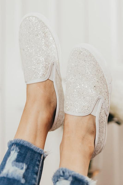 Just Hanging Out Sparkling Sneakers Shoes One Color Available