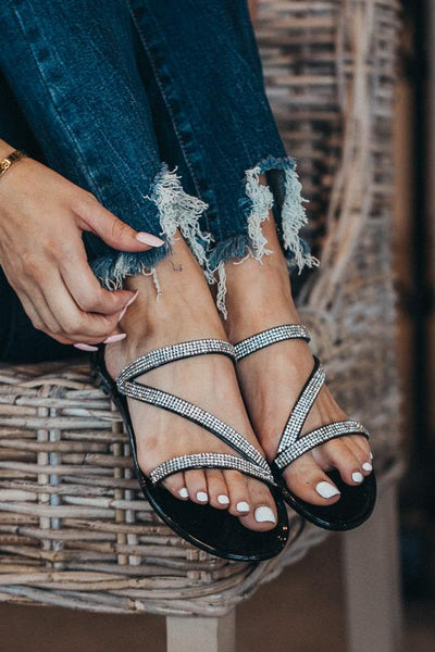 Middle of the Road Jelly & Sparkle Sandals-Black-5.5-[option4]-[option5]-Cute-Trendy-Shop-Womens-Boutique-Clothing-Store