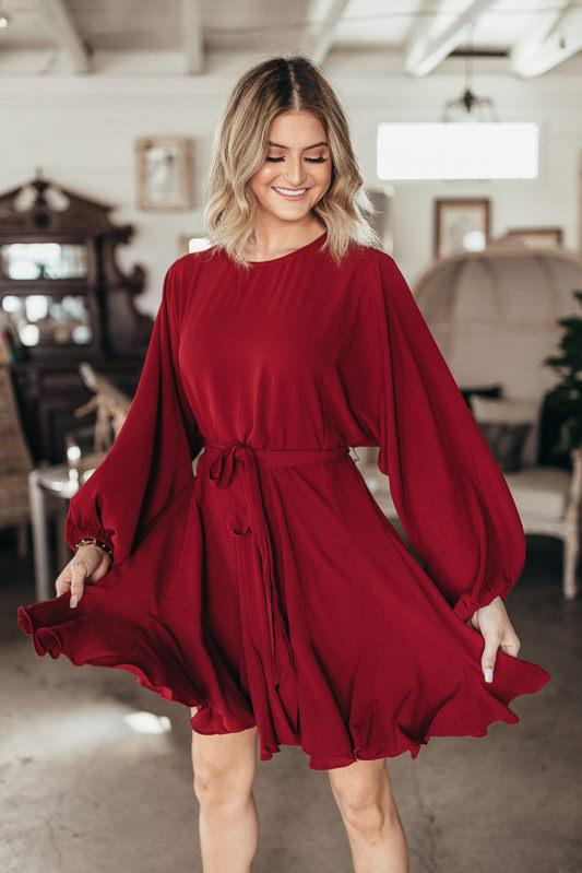 See Ya Tonight Flowy Dress-Burgundy-SMALL-[option4]-[option5]-Cute-Trendy-Shop-Womens-Boutique-Clothing-Store