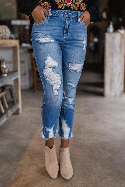 Show Me The Way Destroyed Ankle Jeans-1-[option4]-[option5]-Cute-Trendy-Shop-Womens-Boutique-Clothing-Store
