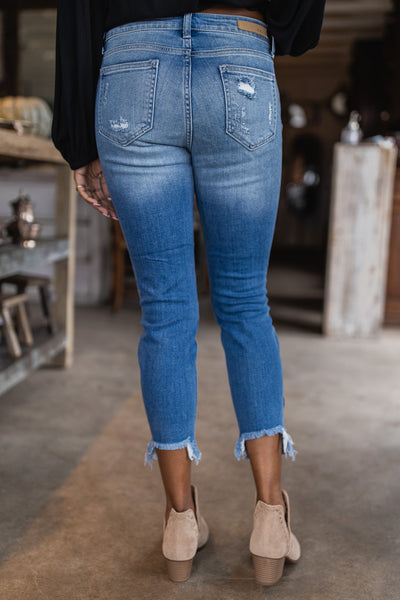 Show Me The Way Destroyed Ankle Jeans-[option4]-[option5]-Cute-Trendy-Shop-Womens-Boutique-Clothing-Store