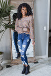 For the Team Distressed Stretch Jeans-1-[option4]-[option5]-Cute-Trendy-Shop-Womens-Boutique-Clothing-Store