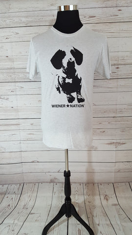 """Wiener Nation"" Men's T-Shirt  Shown in Heather White"