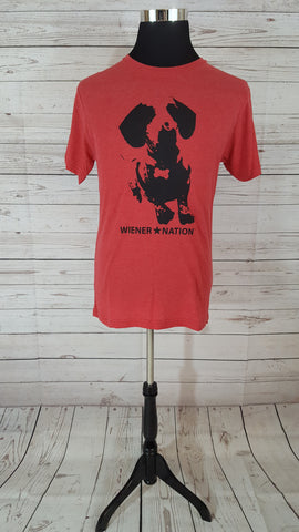 Wiener Nation Men's T-Shirt Shown in Vintage Red