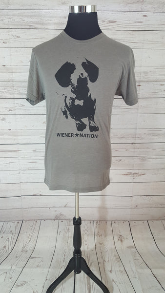 Wiener Nation Men's T-Shirt Shown in Venetian GrayishBrown