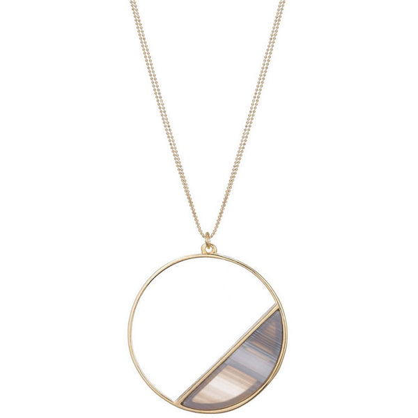 Agate Circle Pendent
