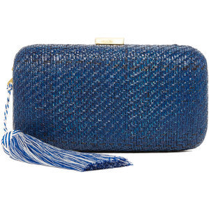 Navy Tassel Clutch