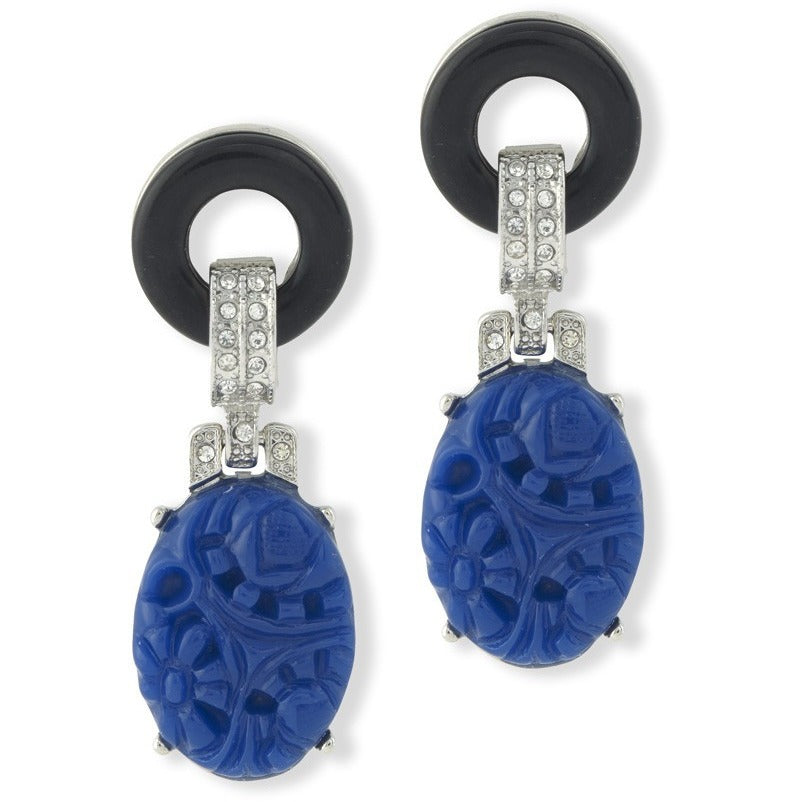 Lapis Art Deco Earring