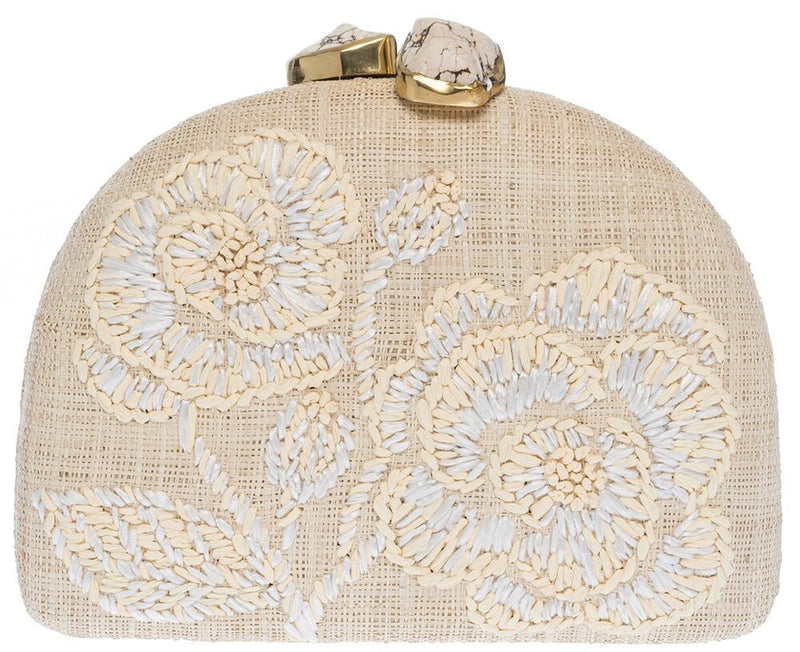 Ariella Clutch Natural/White