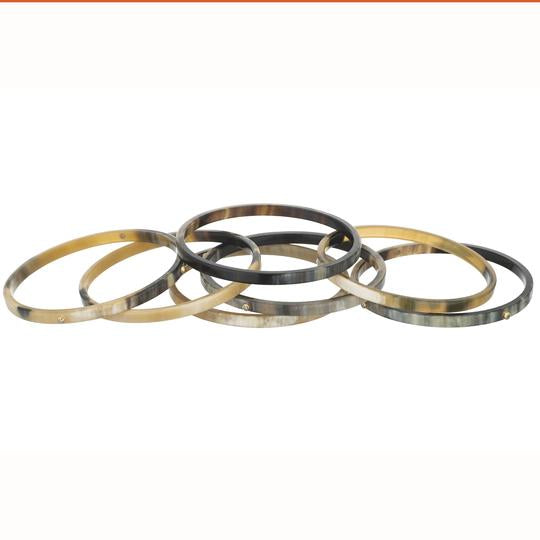Crystal Horn Bangle Set