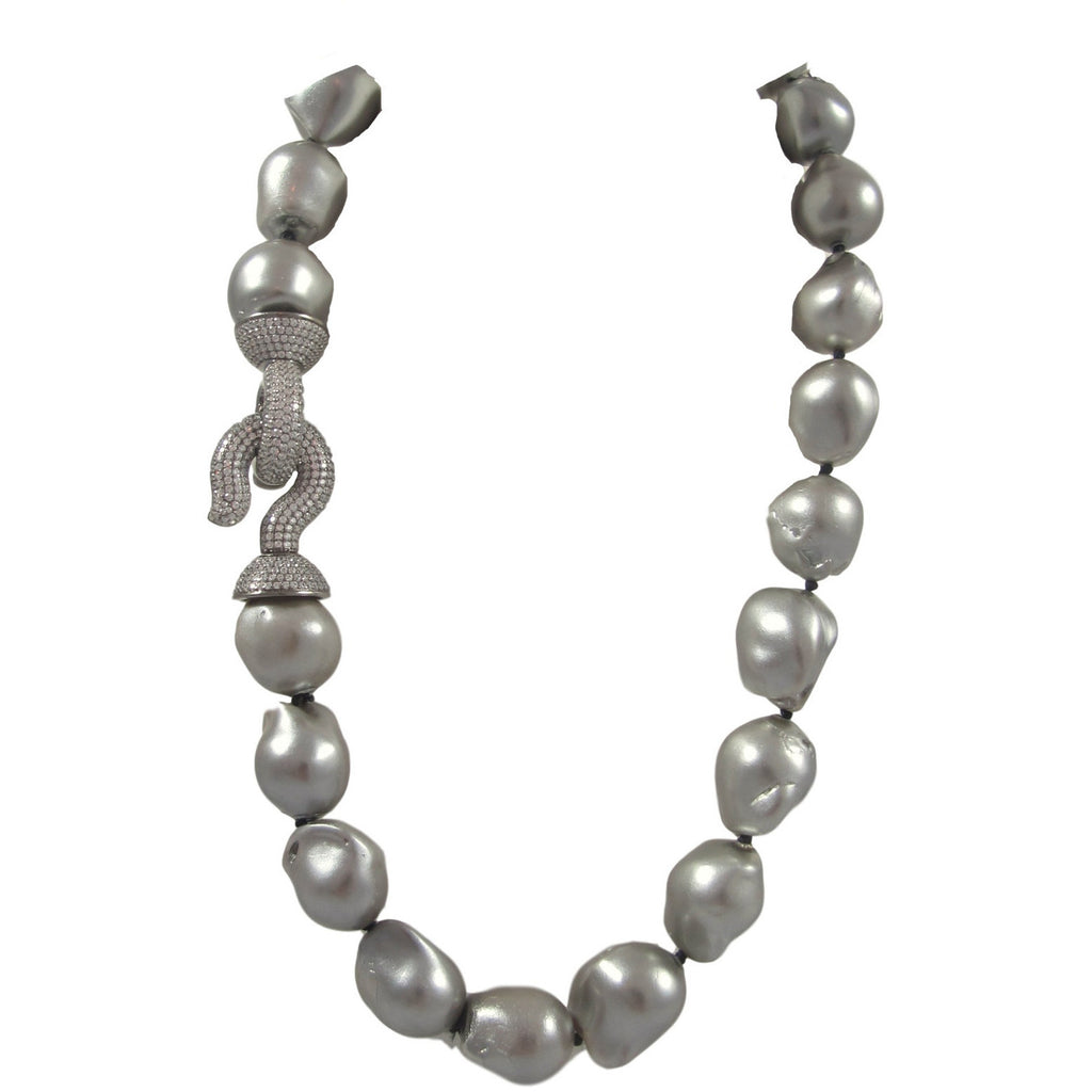 Short Grey Baroque Pearls