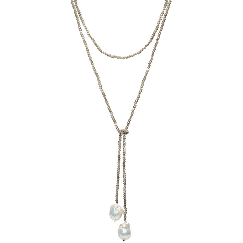 Cement Crystal Lariat