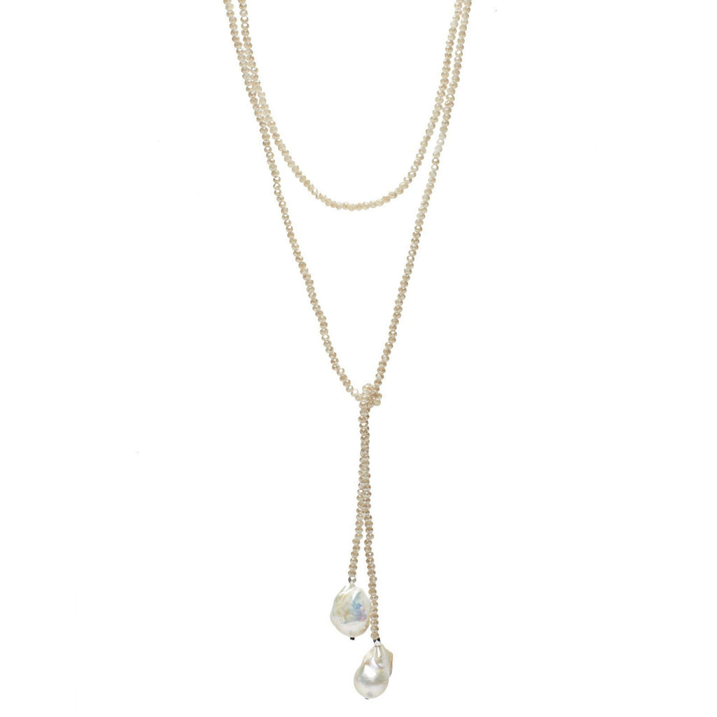 Nude Crystal Lariat