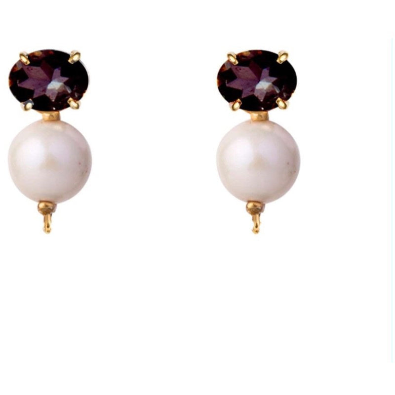 Amethyst and Pearl drops