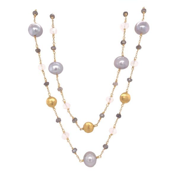 Grey moonstone pearl