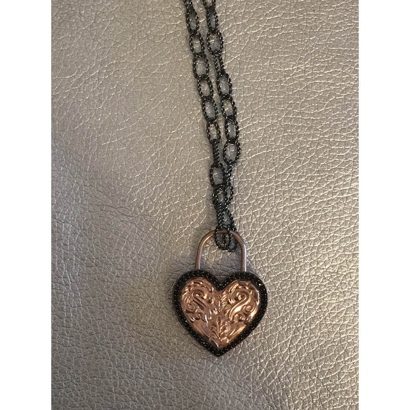 Rose gold heart