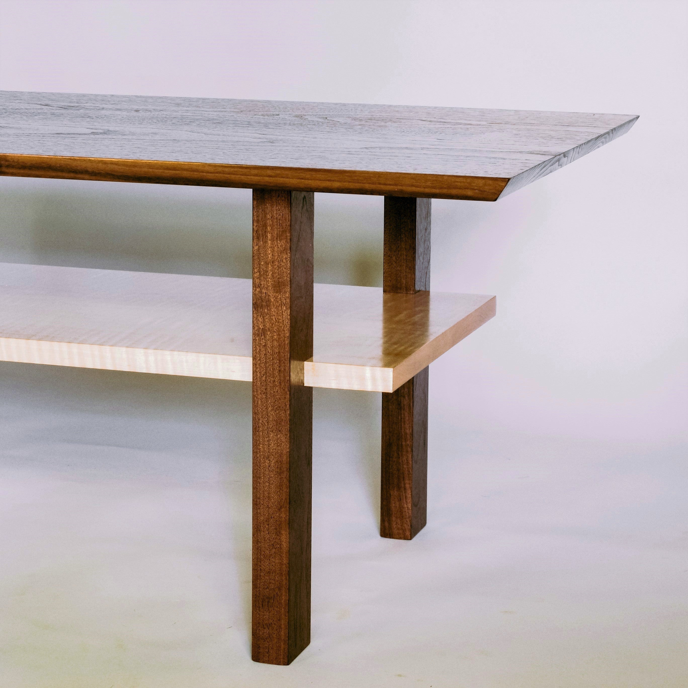 The Classic Coffee Table - Walnut with Tiger Maple