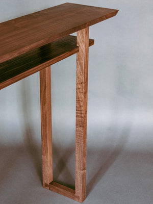 The Classic Console Table - Walnut