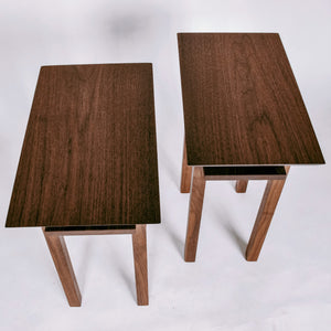solid walnut end tables - handmade artisan furniture