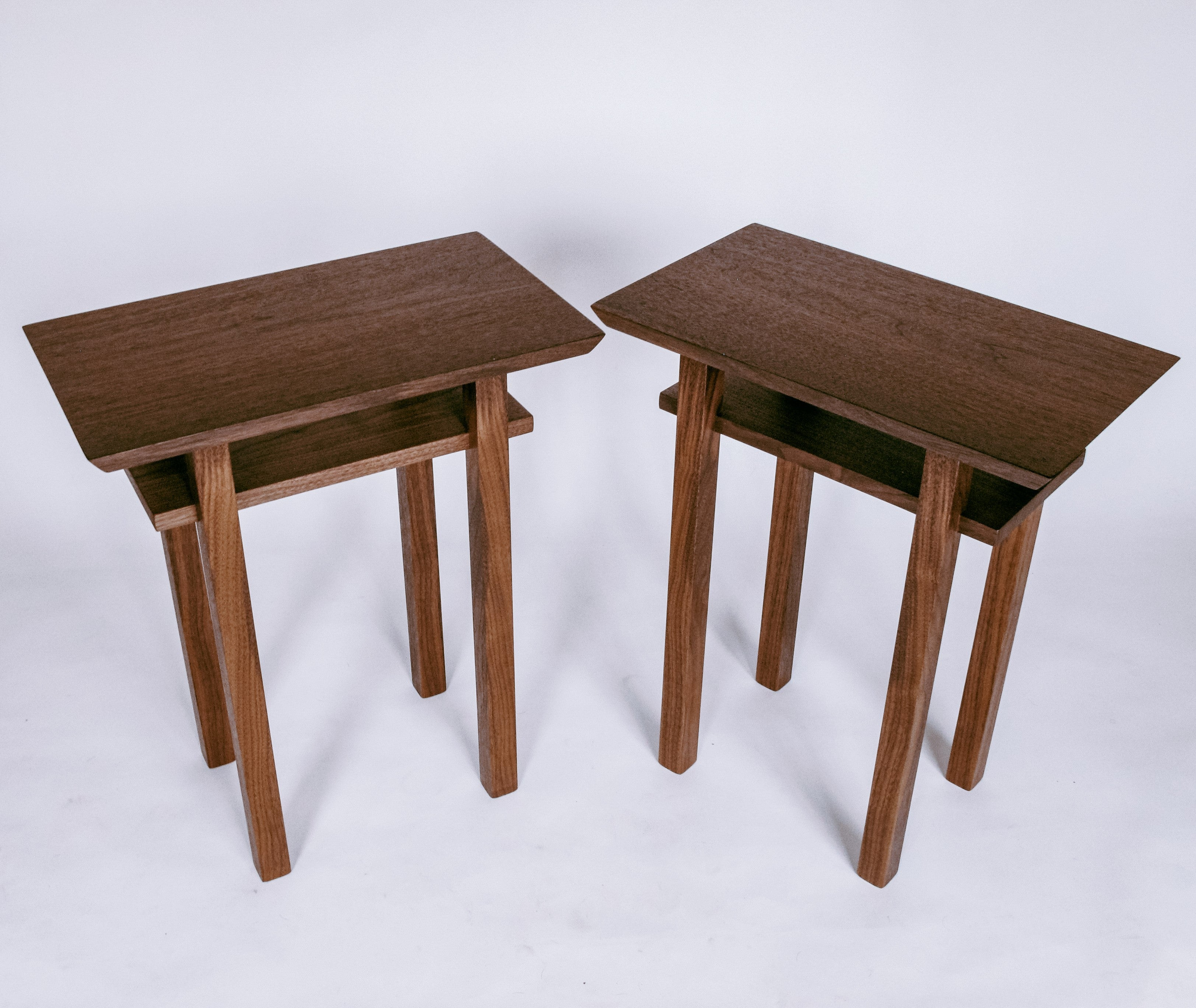 minimalist wood furniture - small end tables