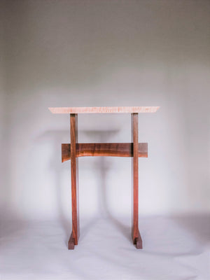 standing desk in tiger maple and walnut - modern home office