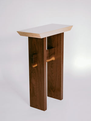 wooden accent table - modern minimalist wood furniture
