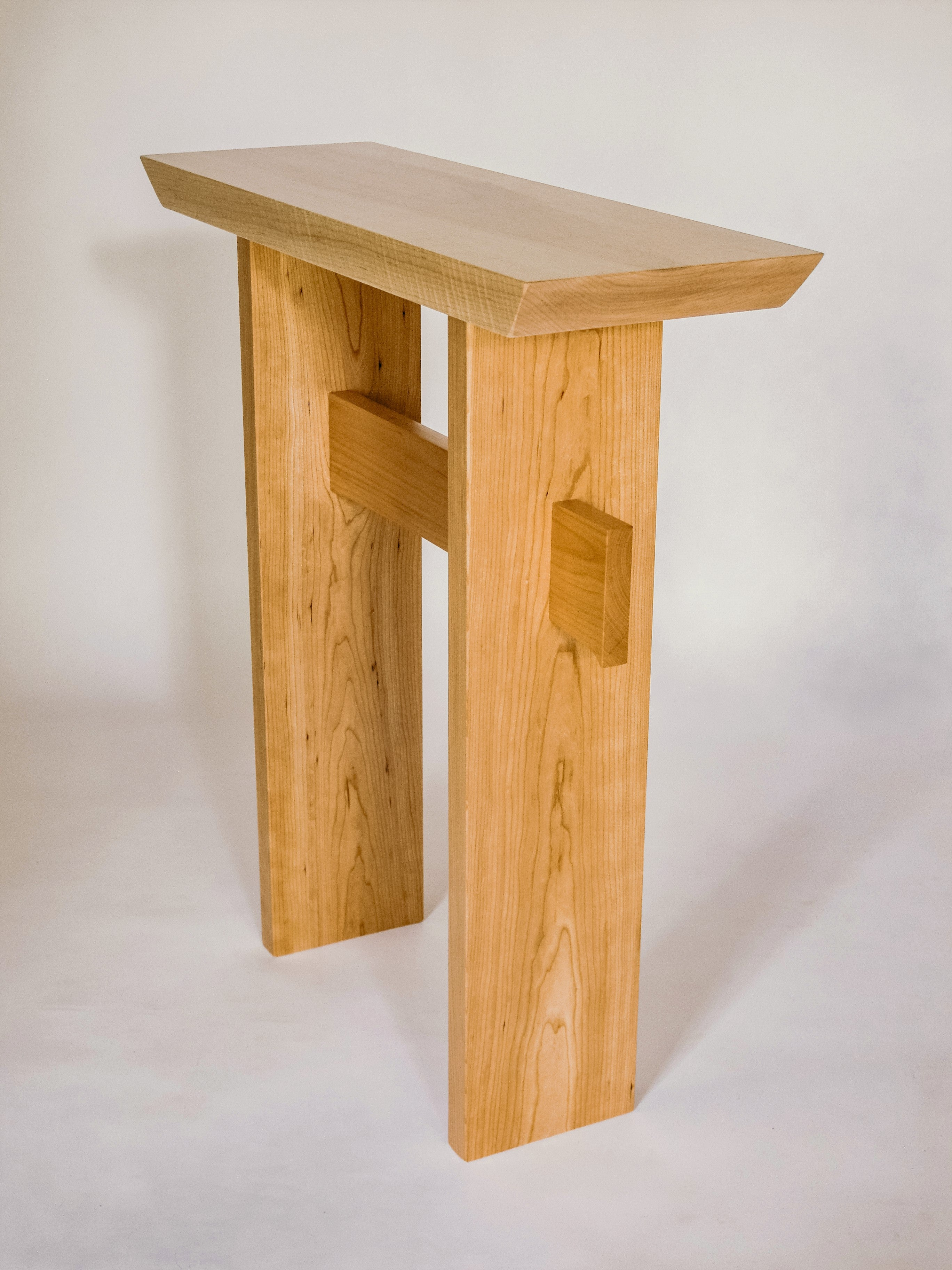 Tiger maple with cherry modern wood table