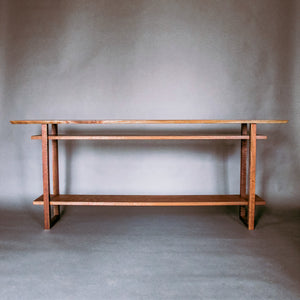 minimalist wood hall table console