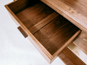 handmade solid wood furniture - beautiful drawer interiors