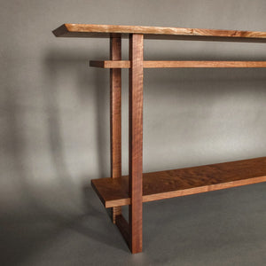 Minimalist wooden console table for the entryway or hallway