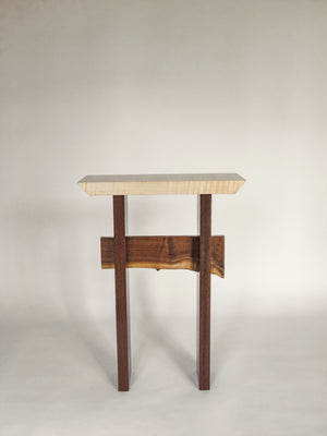 small wooden accent table with modern zen style - handmade wood furniture