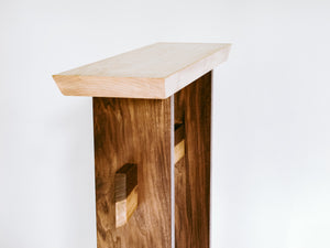 narrow wood table - side table accent furniture