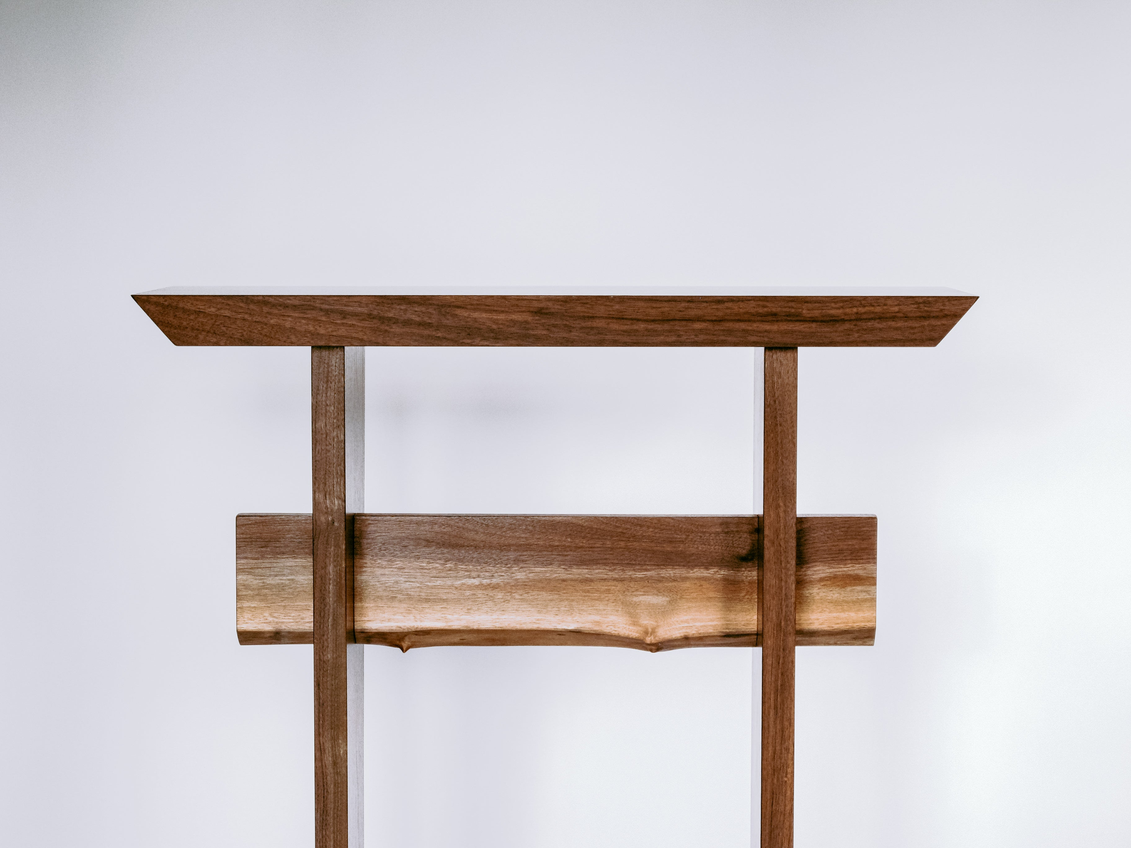 solid walnut console table - modern zen furniture styling